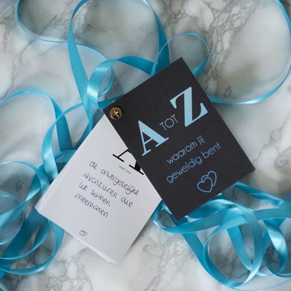 A tot Z redenen waarom jij geweldig bent, origineel en lief cadeau, cadeau voor moeder, cadeau voor vriendin, cadeau voor partner