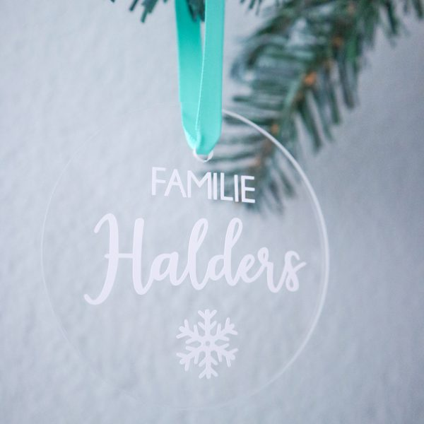Gepersonaliseerde kersthanger - familienaam