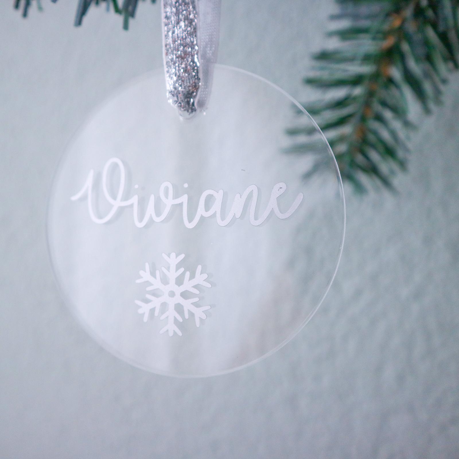 Gepersonaliseerde kersthanger - enkele naam