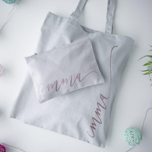 Gepersonaliseerde make-up tas, Gepersonaliseerde tas met naam, Gepersonaliseerd cadeau, Cadeau voor vrouw