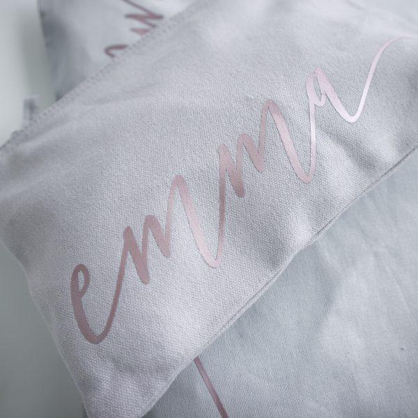 Gepersonaliseerde make-up tas met eigen naam, Gepersonaliseerd cadeau voor vrouw