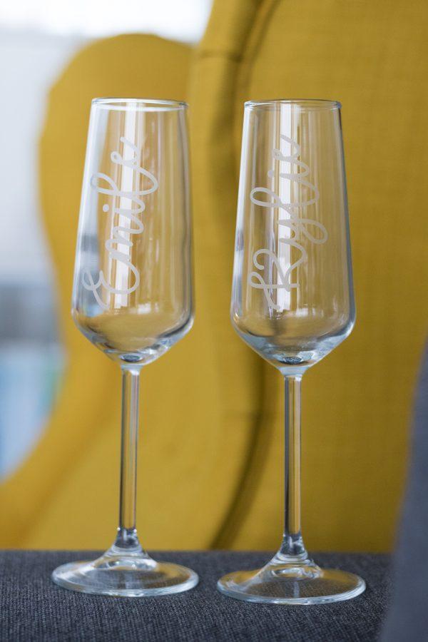 Gepersonaliseerd champagneglas met naam