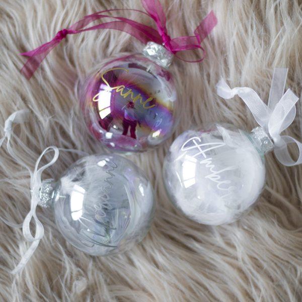 Gepersonaliseerde kerstbal met naam