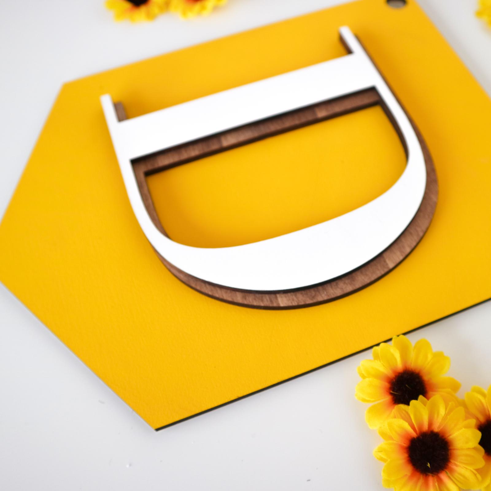 Houten letter hanger gepersonaliseerd