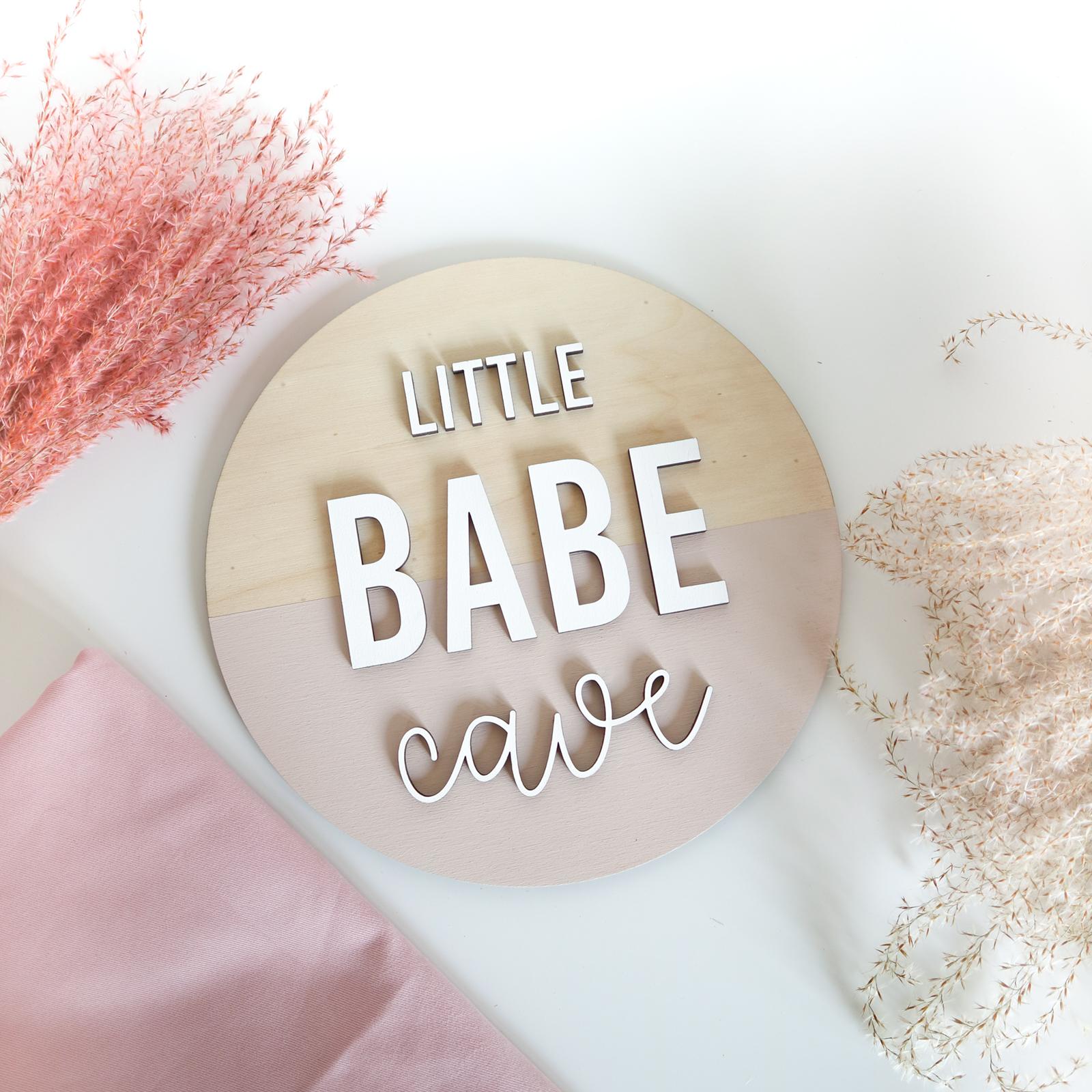 Little Babe Cave houten bord kinderkamer