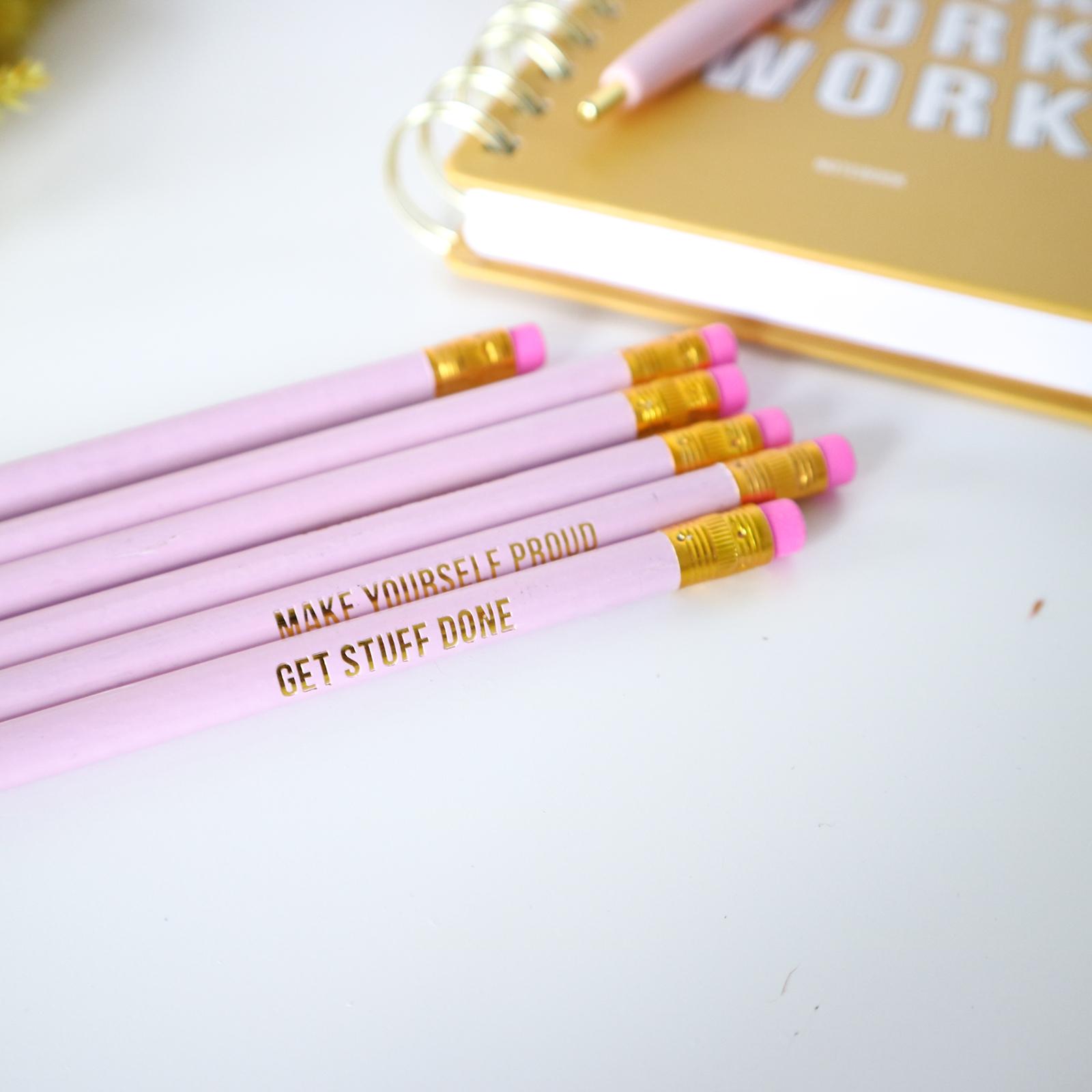 Pretty Pink potloden set
