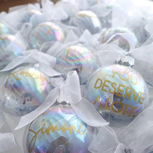 Gepersonaliseerde kerstballen voor Lott Gioielli