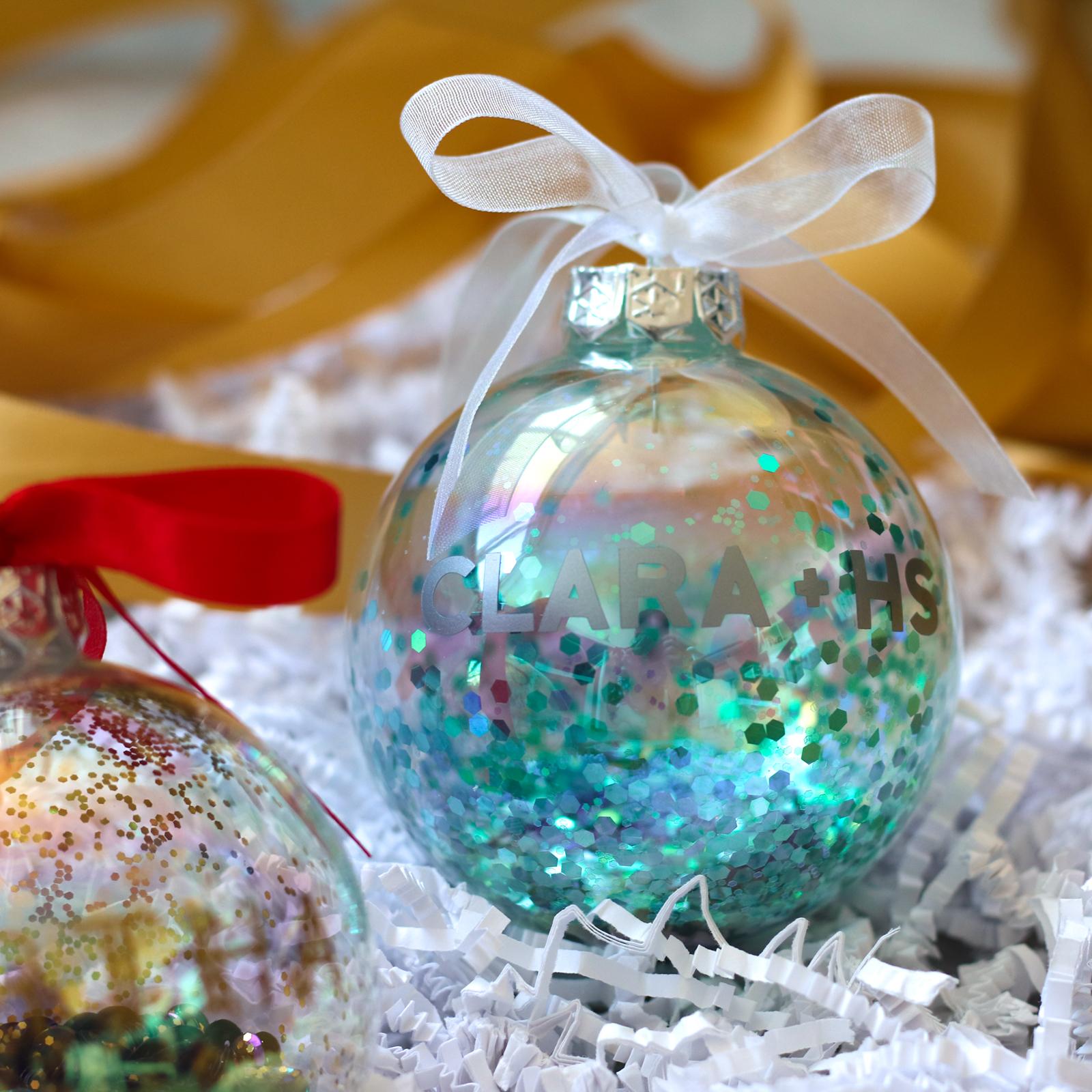 Gepersonaliseerde kerstbal met naam - MERMAID
