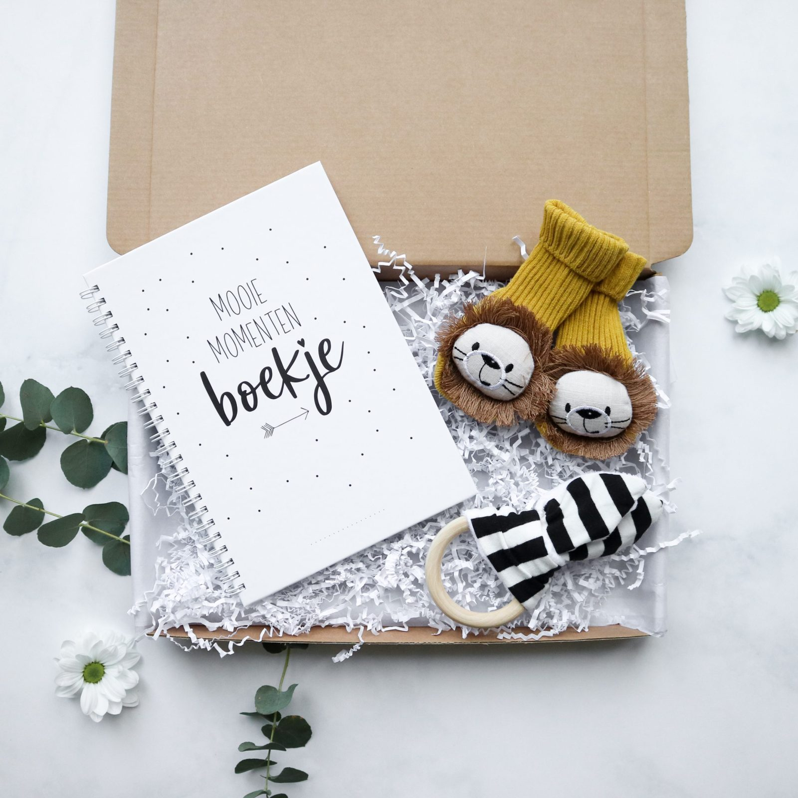 baby brievenbuscadeau, kraamcadeau brievenbus, mooie momenten boekje, origineel kraamcadeau, goedkoop kraamcadeau