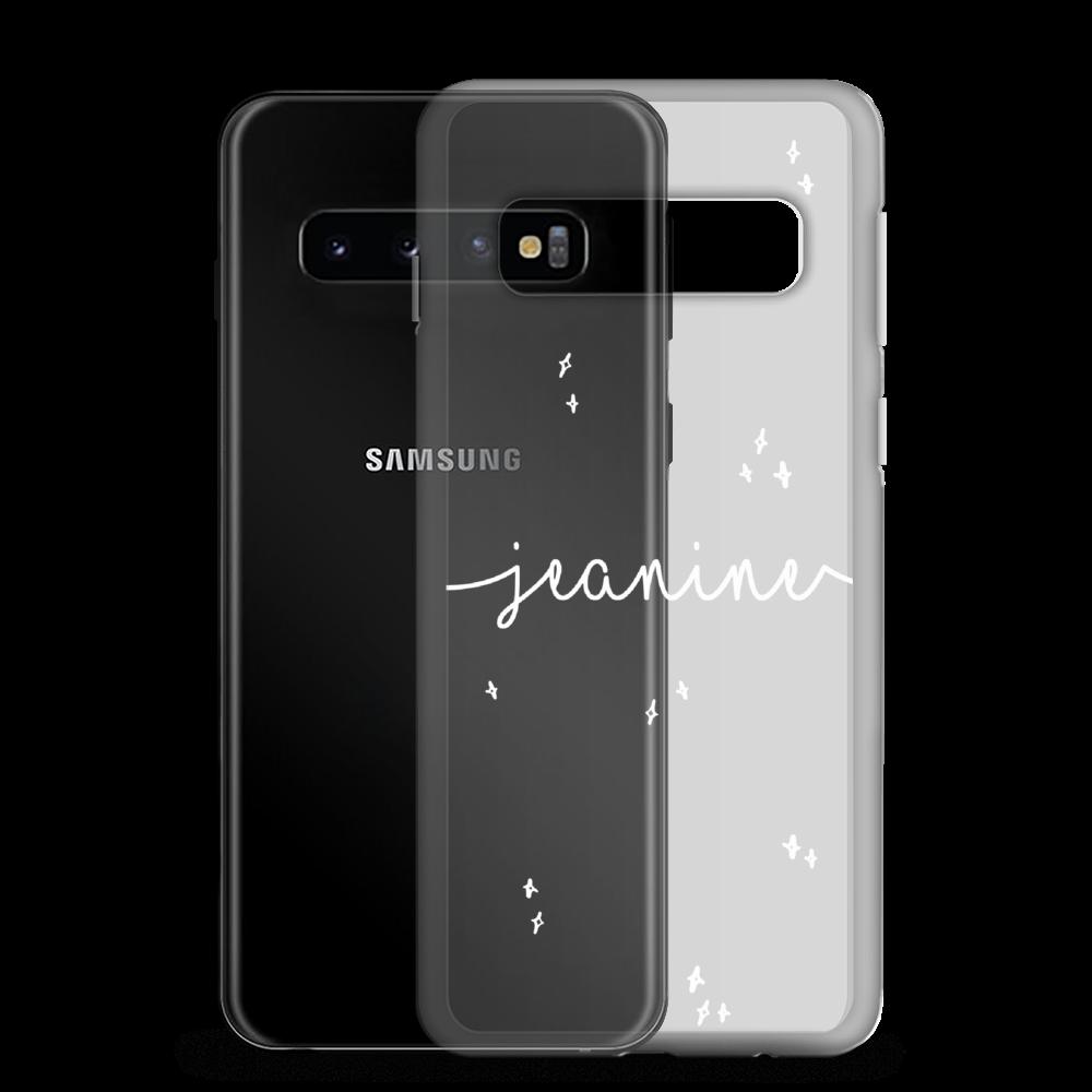 Gepersonaliseerd Samsung telefoonhoesje met naam - Stars