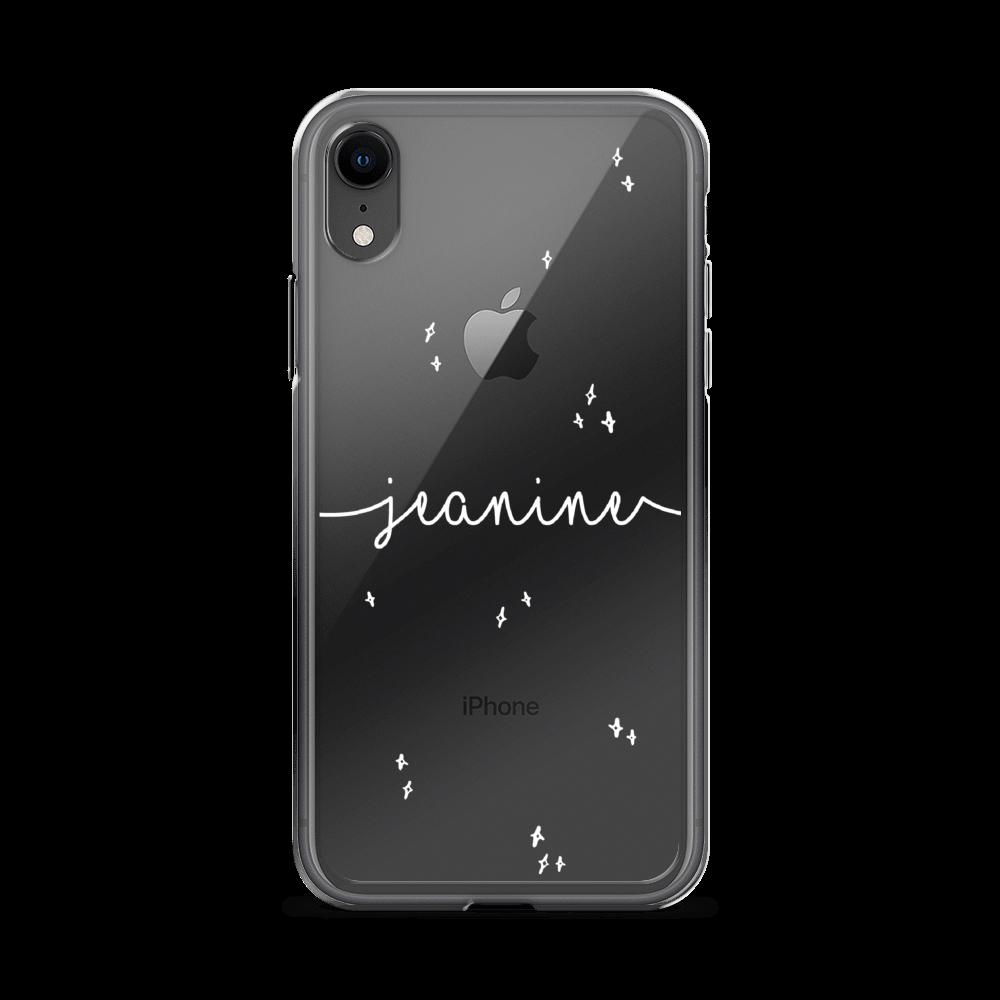 Gepersonaliseerd iPhone telefoonhoesje met naam - Stars