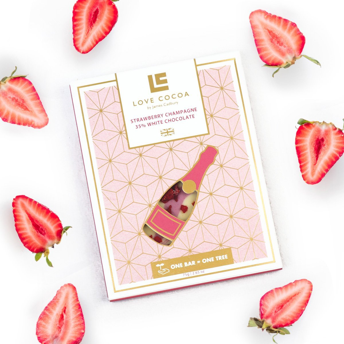Strawberry Champagne 35% Witte Chocolade