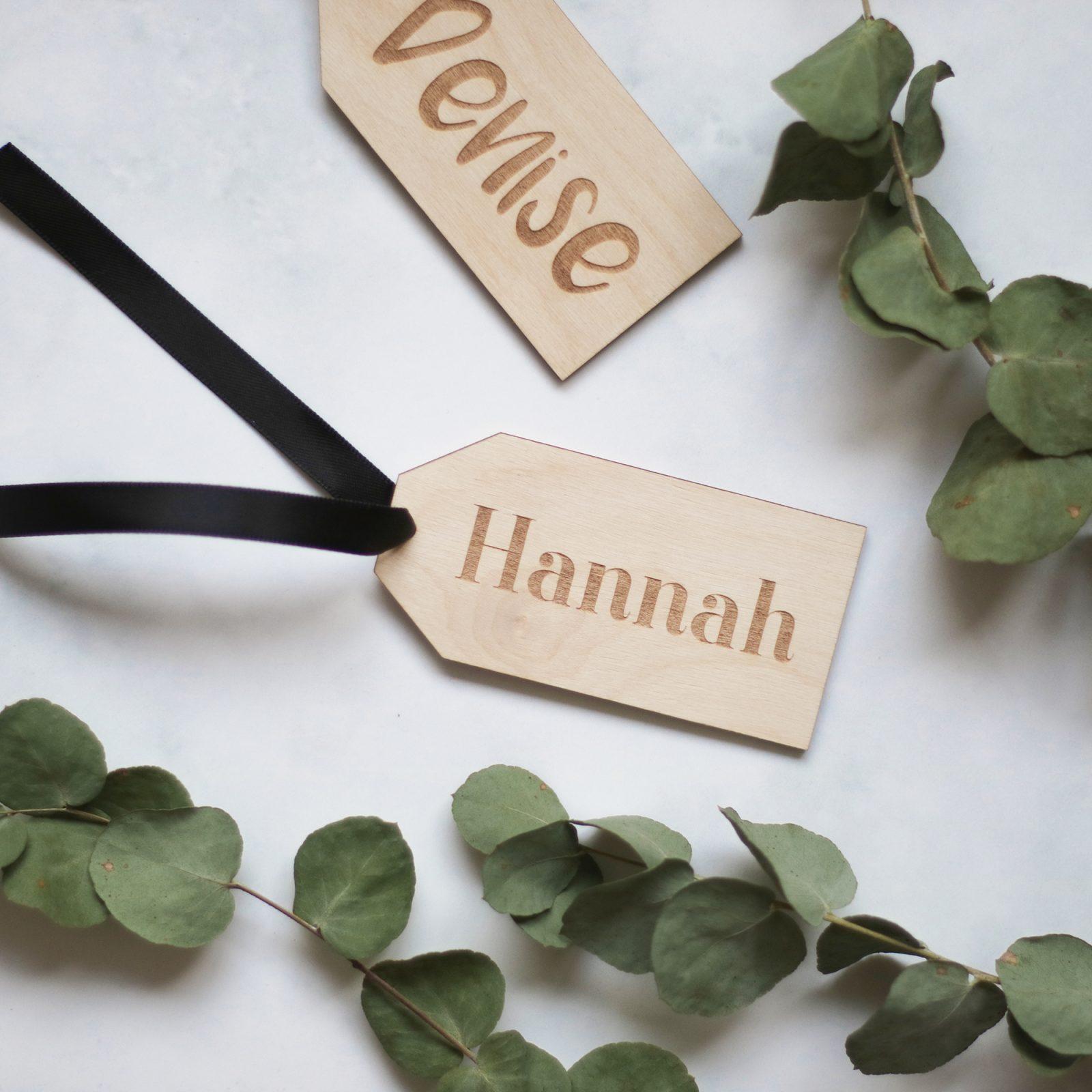 Houten cadeau tags